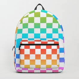 Rainbow Checkerboard Backpack