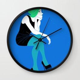 Woman Sitting Wall Clock