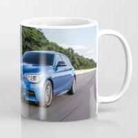 bmw Mugs featuring BMW M135i by Nenhum Destes