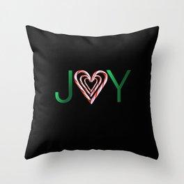 Candy Cane Joy Throw Pillow