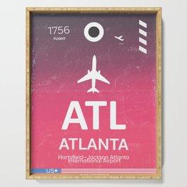 ATL Hartsfield–Jackson Atlanta International Airport Serving Tray