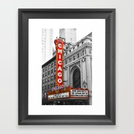 Chicago Theater Framed Art Print