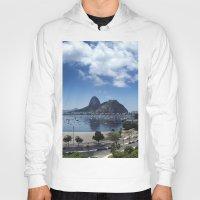 rio de janeiro Hoodies featuring Lovely Rio de Janeiro by Michel Lent