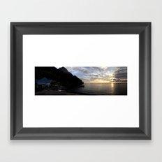 St Lucian sunset Framed Art Print