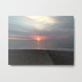 Flying sunrise Metal Print