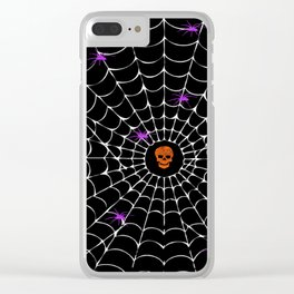 Spooky Halloween Clear iPhone Case