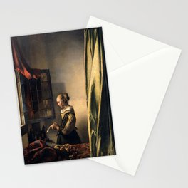 "Johannes Vermeer ""Girl Reading a Letter at an Open Window"" Stationery Cards"