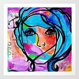 Clean it Up Dirty Girl Art Print