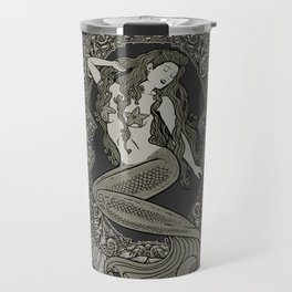 Neo Classic Mermaid Siren Sepia Travel Mug