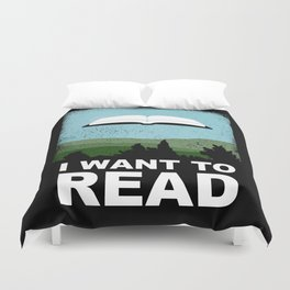 I Want to Read Duvet Cover