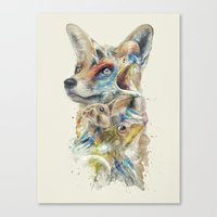 starfox Canvas Prints featuring Heroes of Lylat Starfox Inspired Classy Geek Painting by Barrett Biggers