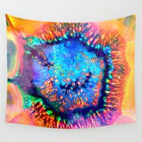 agate Wall Tapestries featuring Colorful agate by haroulita