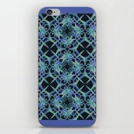 Thanksgiving Tiled - Blue Black iPhone Skin