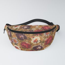 Antique Russian Bessarabian Floral Rug Print Fanny Pack