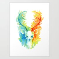 feather Art Prints featuring Feather Fawn by Freeminds