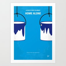 No427 My Home alone minimal movie poster Art Print