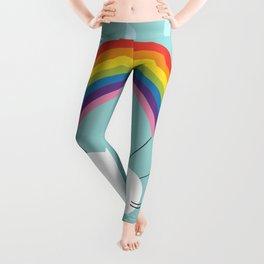 rainbow parachute Leggings