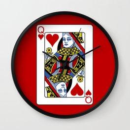 Queen of Hearts T-Shirt / Unisex Wall Clock