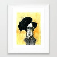 tim burton Framed Art Prints featuring Tim Burton by JonasHviid
