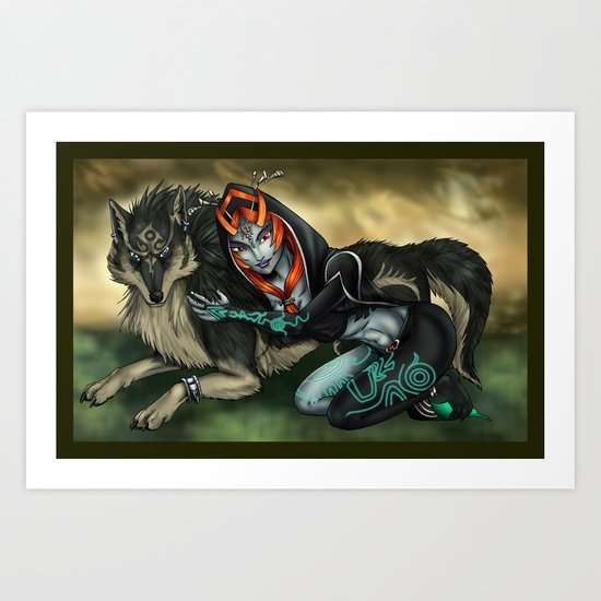 Link and Midna Art Print