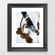 Romanian Point Lace and Perfume Photography  Framed Art Print