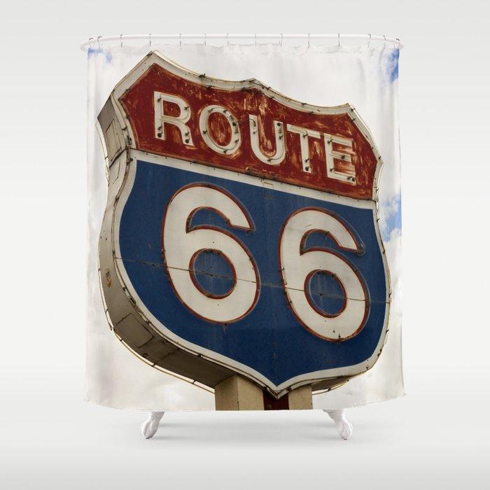 Us Route 66 Duschvorhang Von Jsebouvi Society6