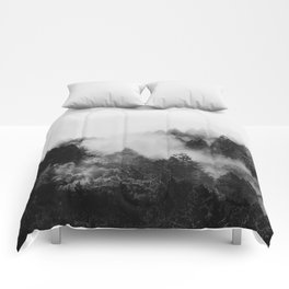 End in fire black & white (requested) Comforters