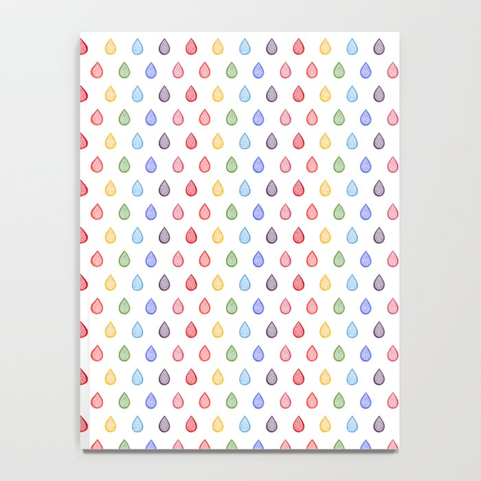 Rainbow raindrops Notebook