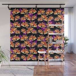 goldfish on black background Wall Mural
