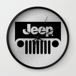 Jeep Steel Chrome Wall Clock