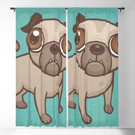 Pug Puppy Cartoon Blackout Curtain