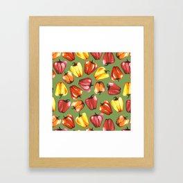 Bell Peppers Pattern Framed Art Print