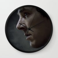 sherlock Wall Clocks featuring Sherlock by Kate Dunn