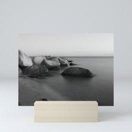 Stones in the sea 2 Mini Art Print