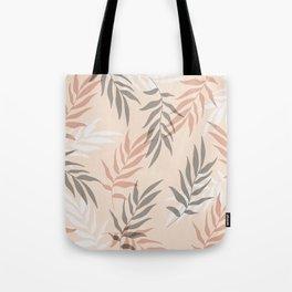 Modern Palm Leaves Pattern Tote Bag
