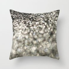 A mix of Black and Silver - an abstract photograph Throw Pillow