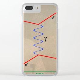 Feynman Diagram Clear iPhone Case
