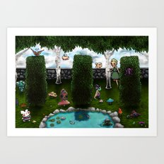 The Living Garden Art Print