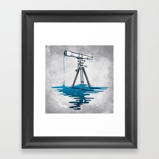 Liquid Universe Framed Art Print