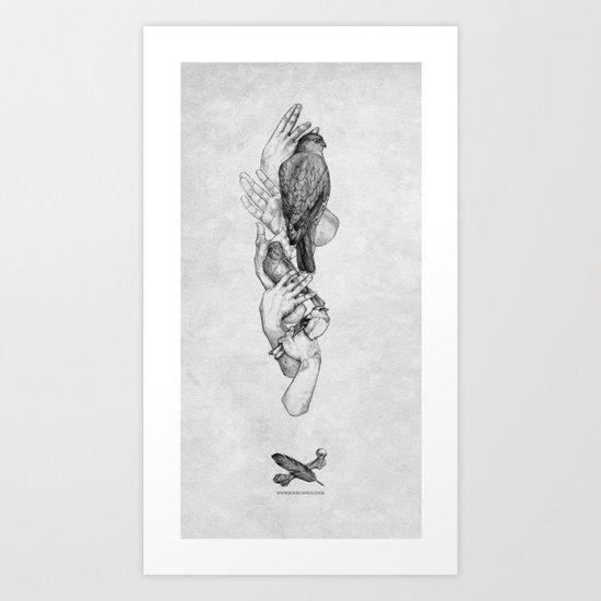 Birdhands Art Print