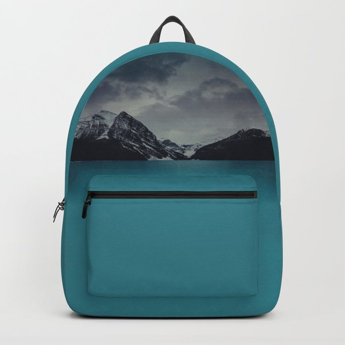 Lake Louise Winter Landscape Backpack