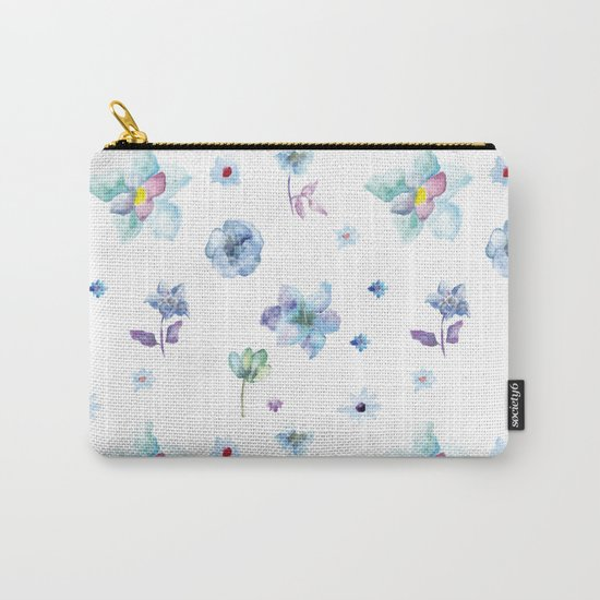 Delicate Floral Pattern 02 Carry-All Pouch