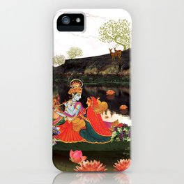 Musical evening at lake side iPhone Case