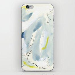 Silk Chiffon Blue iPhone Skin