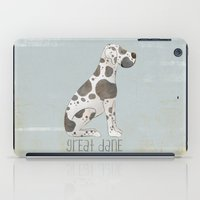great dane iPad Cases featuring Great Dane by 52 Dogs