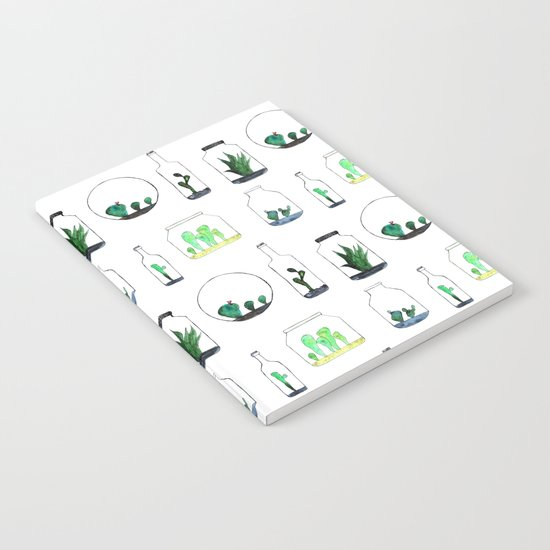 Bottled cactuses Notebook