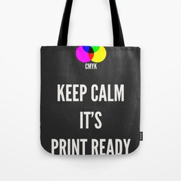 Print Ready Dark Tote Bag