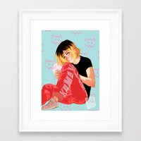johannathemad Framed Art Prints featuring Neko by JohannaTheMad