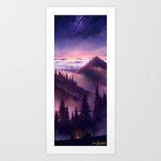 The Hobbit : Misty Mountain. Art Print