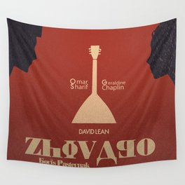 Doctor Zhivago, David Lean, Omar Sharif, Boris Pasternak book, minimalist movie poster, Russia film Wall Tapestry